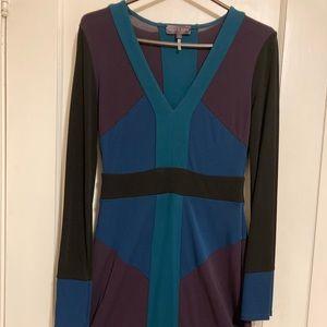 Hale Bob colour block dress
